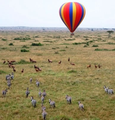 Hot Air Balloon Flight Over The Masai Mara Plains